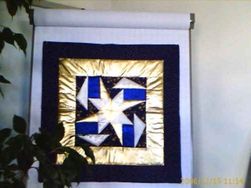 Stern Blau und Gold